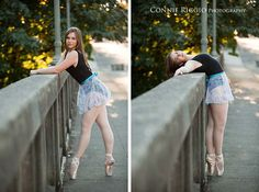 ballet senior pictures- I like these poses but I wouldn't wear this