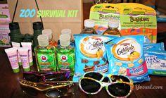 Zoo Survival Kit. Post has ideas for a Lion King themed zoo birthday party. Roaaaarrr!!!