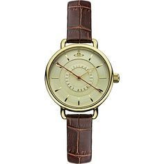 VIVIENNE WESTWOOD VV076GDBR gold round watch (Gold
