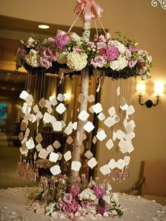 i love this escort table display