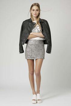 f28e3e711b Twinkle Sequin Pelmet Skirt Petite Skirts