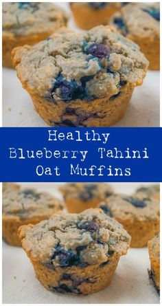We were out of flour, and decided to make a heathier version of Vegan Blueberry Muffins. All-purpose flour is pretty hard for us to find right now! If you're out of flour, do not fear! These Healthy Vegan Blueberry Tahini Oat Muffins are made with rolled oats instead of all-purpose… Vegan Blueberry Muffins, Oat Muffins, Healthy Muffins, Blue Berry Muffins, Vegan Recipes Easy, Baking Recipes, Real Food Recipes, Snack Recipes, Brunch Recipes