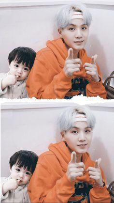 Cute Asian Babies, Korean Babies, Cute Babies, Min Yoongi Bts, Bts Jungkook, Kpop Couples, Cute Couples, Yoonmin, Couple With Baby