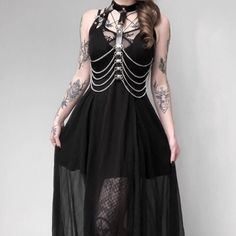 Women's Strappy Layered Punk Dress - Punk Design - Women's Strappy Layered Punk Dress - Punk Dress, Goth Dress, Lolita Dress, Alternative Mode, Alternative Fashion, Punk Fashion, Gothic Fashion, Lolita Fashion, Prom Outfits