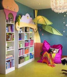 Toddler Room Idea.  Love the Ikea lighting