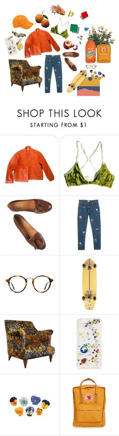 """""""Organgee"""" by sannalagesenfenheim on Polyvore featuring ASOS, Ray-Ban, Element, Pinch, ...Lost, Fjällräven and FRUIT"""