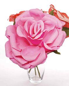 Papier crépon Roses
