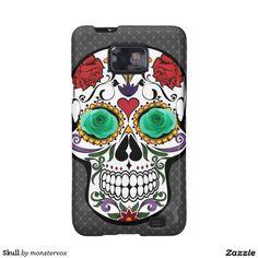 Skull Galaxy SII Cover #Skull #Bone #Holiday #Halloween #Flower #Rose #Mobile #Phone #case #Cover #Samsung