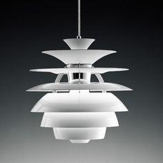 LAMPARA DE TECHO CYGNY Lámpara de colgar, diseño, aluminio, blanca, 40 cms de diámetro. www.decoartesanalfdc.com