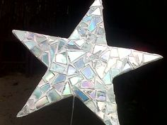 Star made for this year's Christmas Tree from recycled cds
