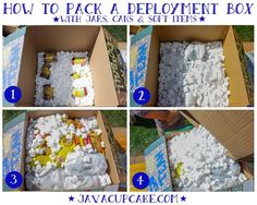 Tips on how to pack a box with cans, jars, etc .