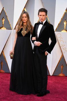 Eddie Redmayne and Hannah Bagshawe, both in Alexander McQueen   - HarpersBAZAAR.co.uk