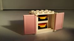 Lego Pizzeria   Pizza Oven and 2 Pizza s  Pink doors Pizza a included As seen