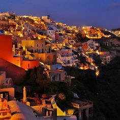 Oia village of Santorini island, Greece