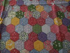 1 Yard Grandmothers Flower Garden Hexagon Calico Print Fabric Cotton Material #SpringsIndustries