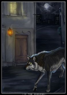 Yellow Anime Wolf Red riding hood...