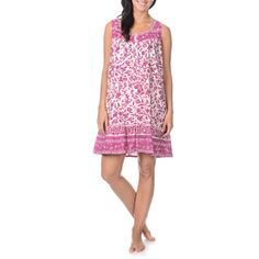 @Overstock - La Cera Women's Flower Print Sweetheart Neckline Nightgown - This nightgown by La Cera is perfect wear for any night of the year. A lovely flower print with a sweetheart neckline and ruffled bottom will make this an instant favorite.  http://www.overstock.com/Clothing-Shoes/La-Cera-Womens-Flower-Print-Sweetheart-Neckline-Nightgown/9135079/product.html?CID=214117 $39.99