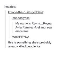 I'll one-up her Reyna Avila Ramirez-Arellano and give her Esteban Julio Ricardo Montoya de la Rosa Ramirez. Beat that!