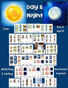 day and night sorting cards to print