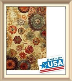 Better Homes and Gardens Sorbet Faux Hook Floral Rug Multi Color