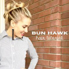 Bun Hawk hair tutorial