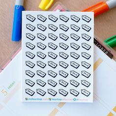 56 Camera / Photography Mini Icons -  Black & White Hand Drawn Sticker Planner by FasyShop on Etsy