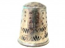 Sterling Silver Stamped Thimble 7163