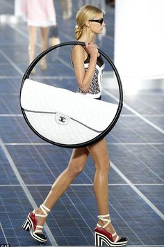 The hula hoop bag. The Chanel spring/summer 2013 catwalk creating a huge social media buzz when it was unveiled at the Grand Palais at Paris Fashion Week in October.