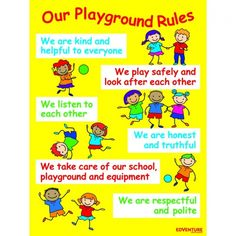 playground rules for preschoolers playground and recess safety posters safety 131