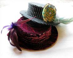Paisley Velvet Hat / Edwardian Style by delightworthyn on Etsy, $58.00