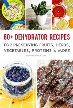 60 Dehydrator Recipes For Preserving Food Saving Money & Eating Healthier Dehydrated Backpacking Meals, Backpacking Food, Dehydrated Food, Dehydrated Vegetables, Fruit Leather Recipe, Homemade Beef Jerky, Dehydrator Recipes, Canning Recipes, Canning 101