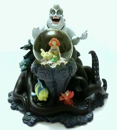 Disney's MLM-My Little Mermaid Collection -  The Little Mermaid Villain Ursula Snow Globe - Sculpture  17325 | Collectibles, Disney,
