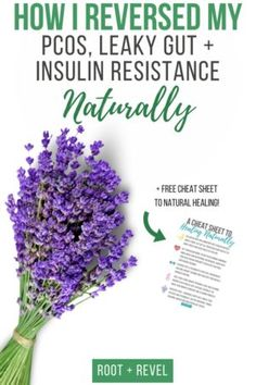 Learn how I reversed my PCOS, Leaky Gut + Insulin Resistance naturally with food, safe supplements + holistic lifestyle changes. No prescriptions required! PLUS Get a FREE cheat sheet to healing naturally!