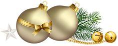 Christmas bulbs gold