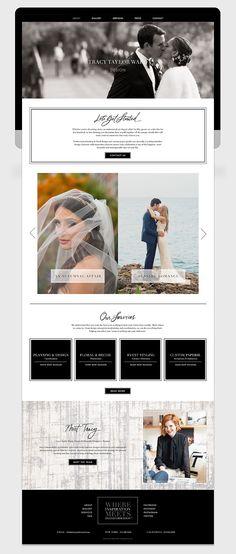 Tracy Taylor Ward Design Custom Website / Responsive Design / Event Planner / Anne Robin Calligraphy / Bliss & Bone