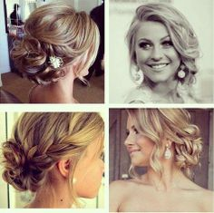 cute wedding hair - up do  @Terah Corver Bate