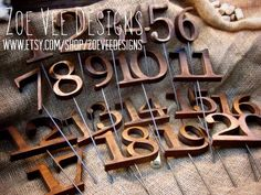 Reserved for Michelle - Rustic Wooden Table Numbers For Wedding and Reception Decor. Numbers 2-20 on Etsy, $285.00