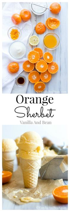Orange Sherbet | Vanilla And Bean  Skip the coconut and use bananas and/or almond milk in its place.