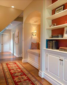 Fox Hollow Residence - traditional - hall - philadelphia - Archer & Buchanan Architecture, Ltd. Traditional Decor, Traditional House, Classic Bookshelves, Bookcases, Luxury Interior Design, Built Ins, Decoration, Luxury Homes, New Homes
