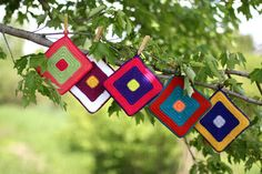 Grumperina goes to local yarn shops and Home Depot: Potholders, simple and colorful