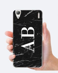 funda-movil-marmol-negro-personalizada-iniciales-2 Custom Cases, Abs, Phone Cases, Iphone, See Through, Black Marble, Mobile Cases, Initials, Crunches