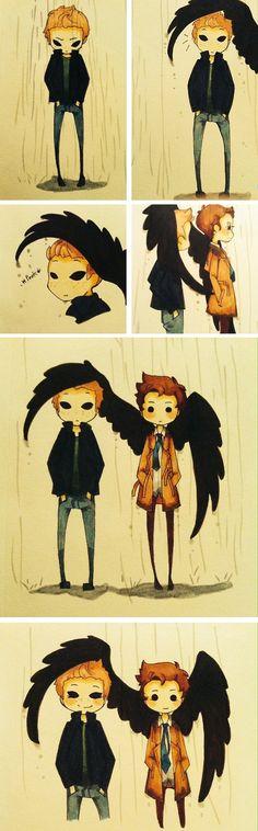 Dean and Castiel