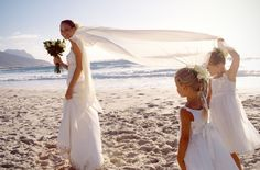 Inspiration for your beach wedding.  If I ever get married, this is the one I would want. Giggle.