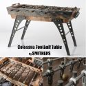Football Table for Games Room Made industrial Design Vintage Antique from Reclaimed Wood Rustic Wood Furniture, Vintage Furniture, Industrial Chair, Industrial Design, Living Room Kitchen, Living Room Bedroom, Truck Bedroom, Cool Office Desk, Bedroom Office