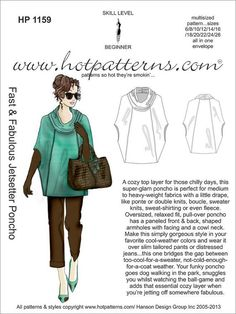 HP 1159 veloce & favoloso Jetsetter Poncho di HotPatterns su Etsy