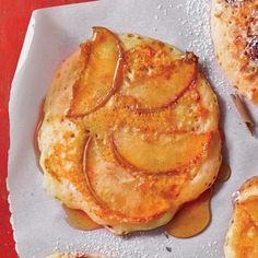 Apple-Spice Pancakes | Save leftover Apple Cider Syrup for drizzling over vanilla ice cream.