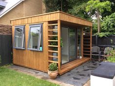 """We are absolutely thrilled with our newly completed Theodore #GardenOffice / #summerhouse, looks amazing. It's going to be a garden room & quiet space for paperwork for our business - although the P.C remains in the indoor/house office! Thank you all!"" -Amanda Halbert"