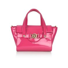 53a20437866c Young Versace Girls Fuchsia Patent Handbag
