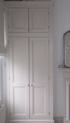 Bedroom Storage Alcove Wardrobe Doors 63 New Ideas Furniture, Alcove Wardrobe, Closet Bedroom, Built In Wardrobe, Built In Cupboards, Wardrobe Handles, Airing Cupboard, Build A Closet, Wardrobe Doors
