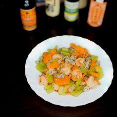 西芹火龍果炒蝦球 #homemade